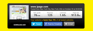 speed test for ipage review