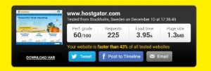 hostgator speed test