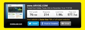 hostgator speed test.