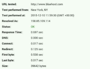 bluehost performance test.